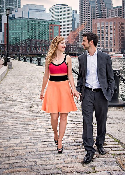 Boston seaport engagement photos by Q Hegarty Photography best wedding photographer near Currier Museum of Art Manchester, NH