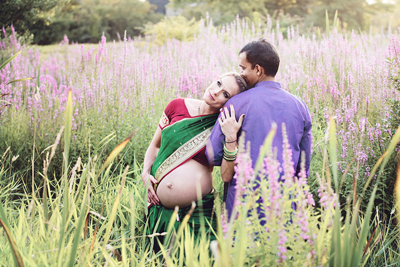 maternity in Indian outfit Q Hegarty Photography maternity photographer in Dunstable, MA