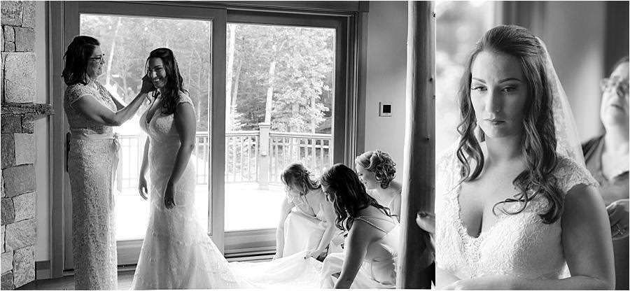 getting ready for a lake Winnipesaukee wedding