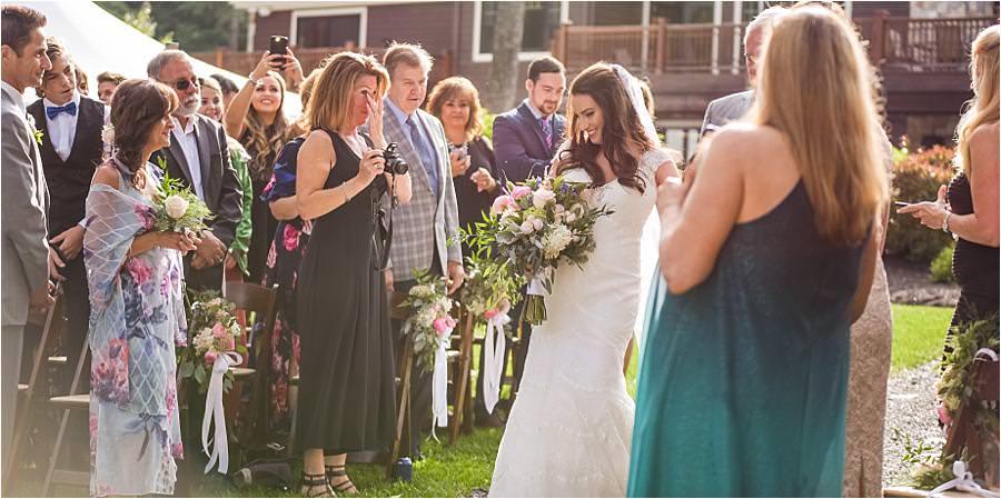 private wedding at lake Winnipesaukee wedding
