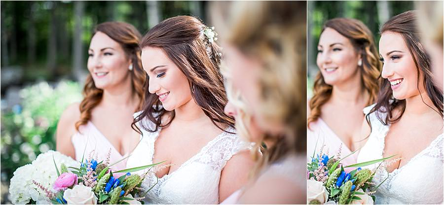bridal party lake Winnipesaukee wedding