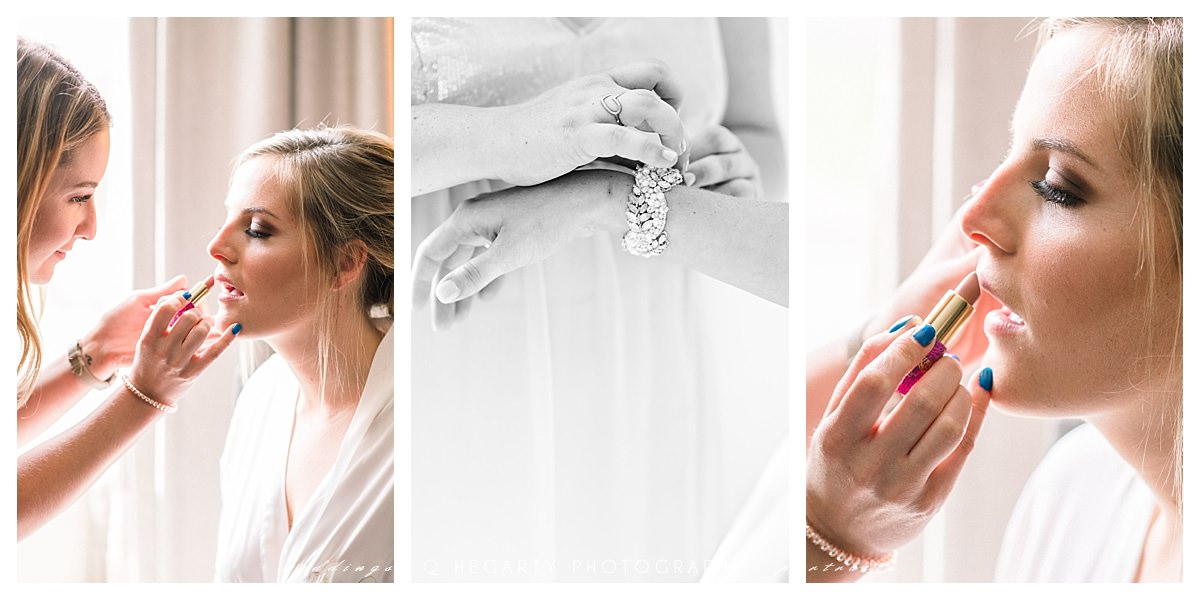 bride getting ready photos by Q Hegarty Photography best wedding photographer near Tupper Manor wedding Beverly, MA