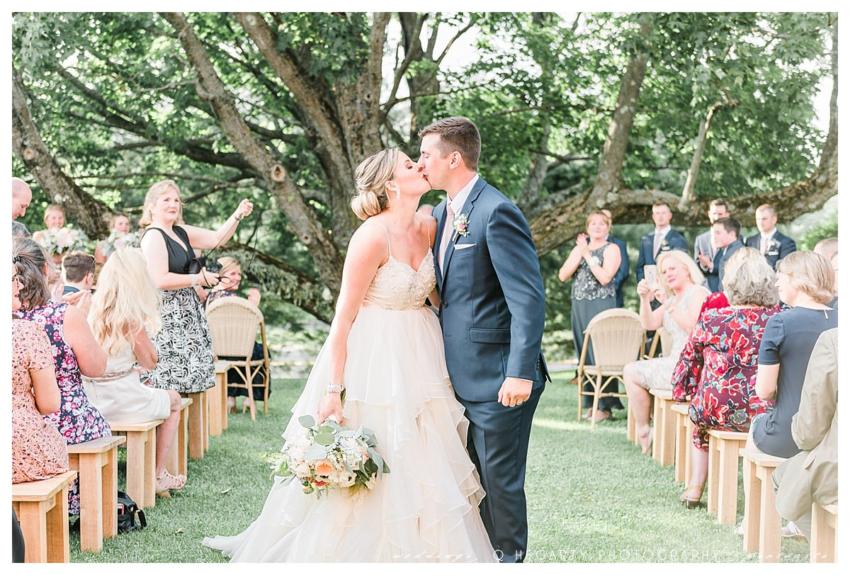 wedding recessional photo ideas The red barn at outlook farm wedding Q Hegarty Photography