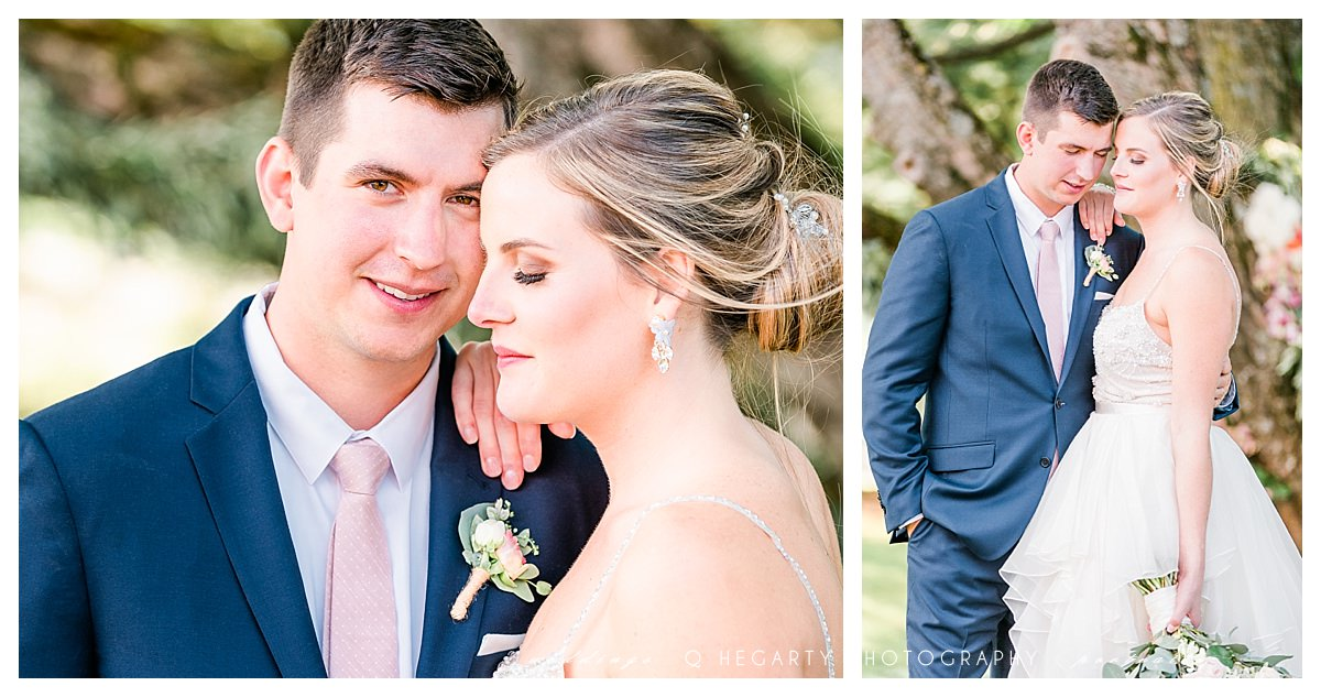 bride and groom photos after ceremony by Q Hegarty Photography best wedding photographer near LaBelle winery Amherst, NH